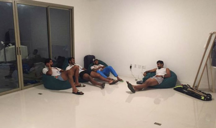 India hockey team players at their apartment in Games Village
