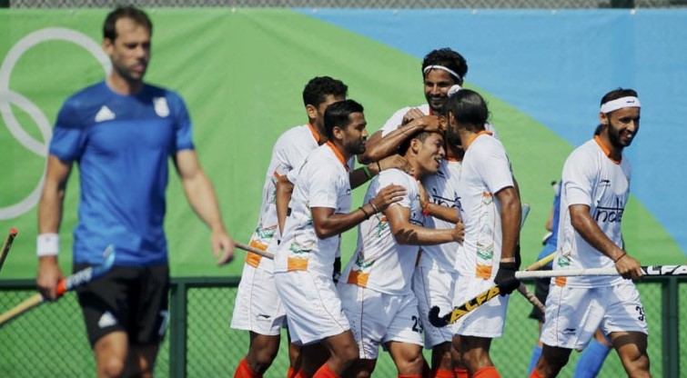 India won their 3rd match against Argentina - Rio Olympics 2016