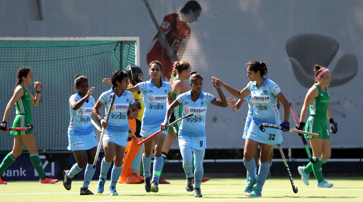 Indian Jr. Women Hockey Team Lost the Match Against Sr. Women Team Ireland