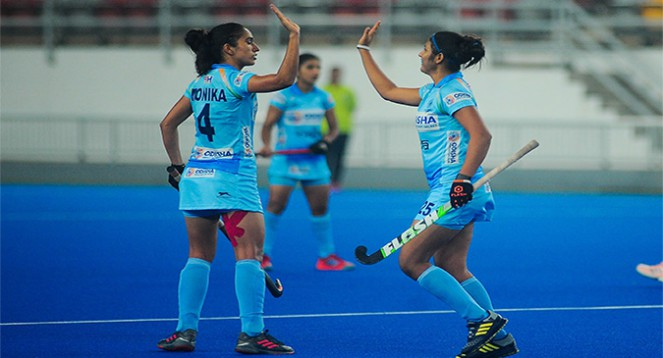 India Sr. Women Hockey Team Won the First Match of the Korea Tour
