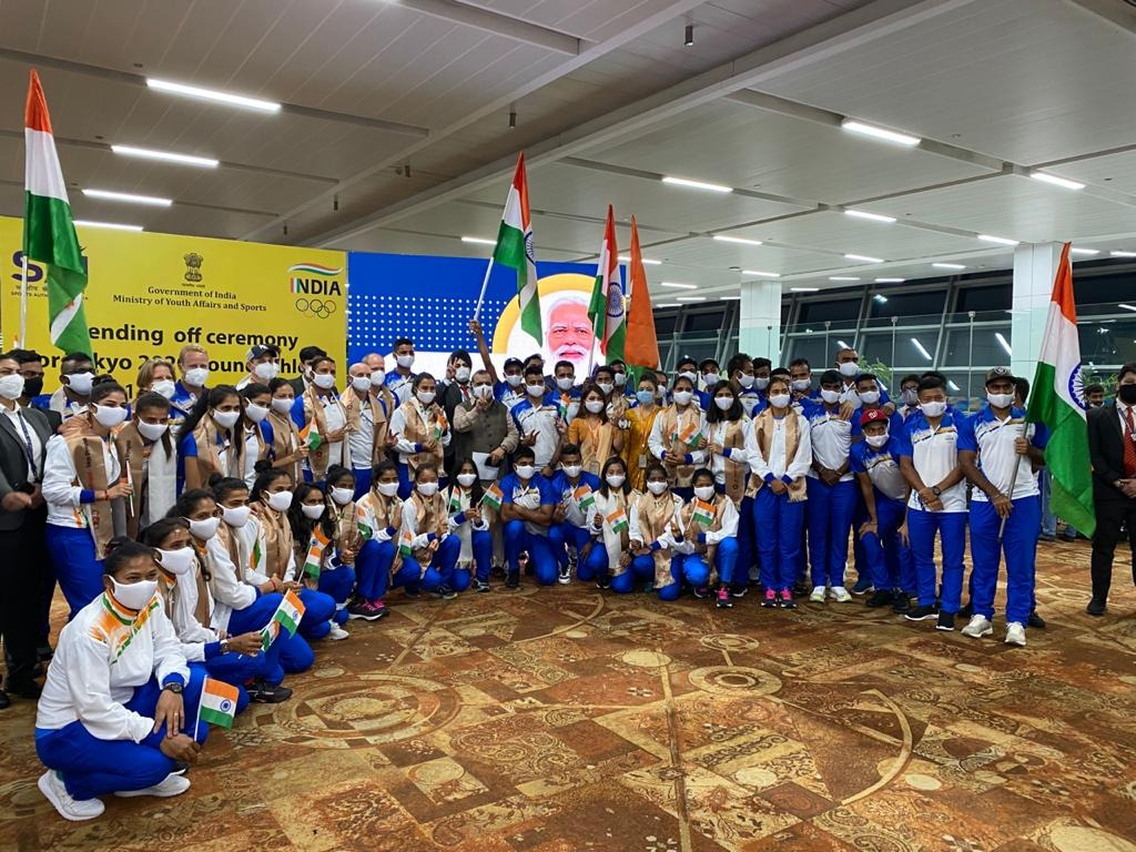 Aimed to bring back the glory team India took off for Tokyo